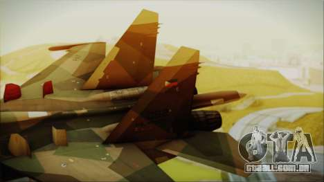 SU-27 Flanker A Philippine Air Force para GTA San Andreas traseira esquerda vista