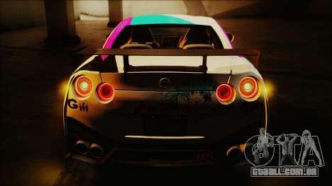 Nissan GT-R Nismo 2015 Itasha Paintjobs para GTA San Andreas traseira esquerda vista
