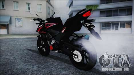 Honda CB150R Black para GTA San Andreas esquerda vista