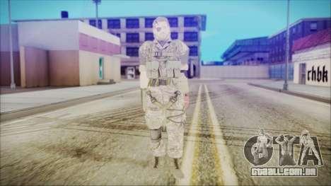 MGSV Phantom Pain Snake Normal Woodland para GTA San Andreas segunda tela