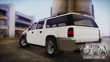 GTA 5 Declasse Granger Civilian IVF para GTA San Andreas traseira esquerda vista