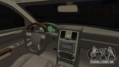 Chrysler 300С Unalturan para GTA San Andreas vista direita