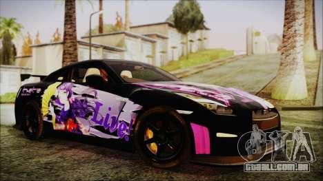 Nissan GT-R Nismo 2015 Itasha Paintjobs para GTA San Andreas vista direita