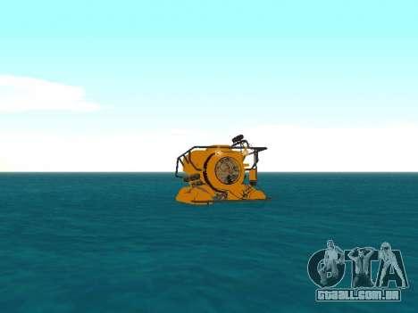 Submersível de GTA V para GTA San Andreas traseira esquerda vista