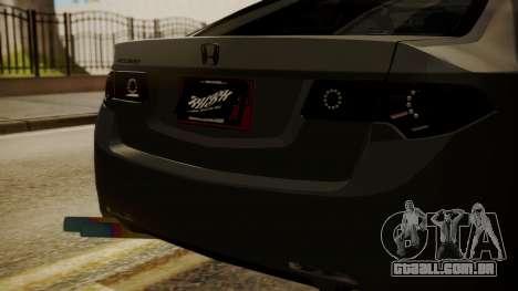 Honda Accord Type S 2008 RHBK para GTA San Andreas vista traseira
