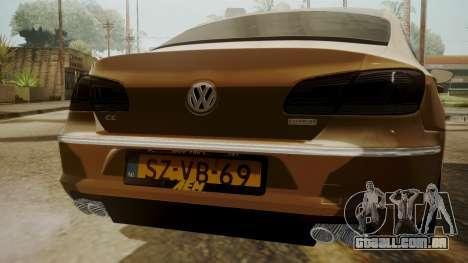 Volkswagen Passat CC para GTA San Andreas vista traseira