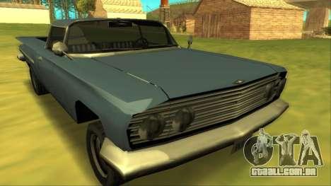 Voodoo El Camino v1 para GTA San Andreas vista traseira