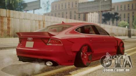 Audi RS7 X-UK L3D para GTA San Andreas esquerda vista