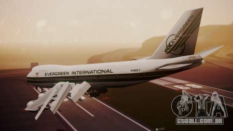 Boeing 747-200 Evergreen International Airlines para GTA San Andreas esquerda vista