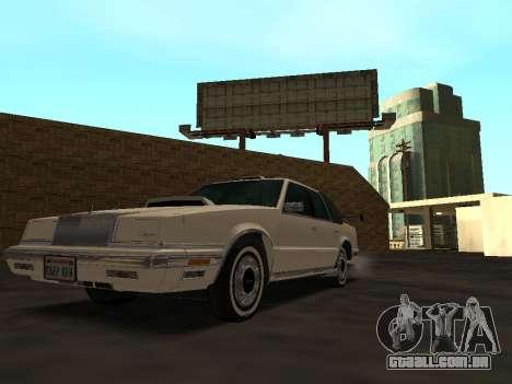Chrysler New Yorker 1988 para GTA San Andreas vista inferior