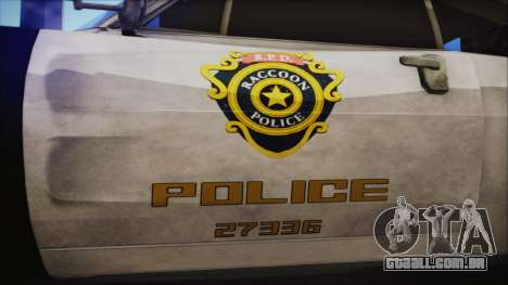 Police Car R.P.D. from RE 3 Nemesis para GTA San Andreas vista direita