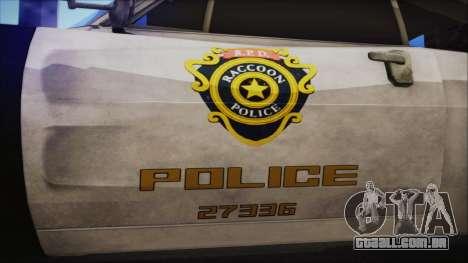 Police Car R.P.D. from RE 3 Nemesis para GTA San Andreas vista direita