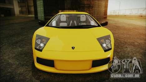 Lamborghini Murcielago 2005 Yuno Gasai IVF para GTA San Andreas vista superior