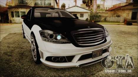 Carlsson Aigner CK65 RS v2 Headlights para GTA San Andreas vista superior