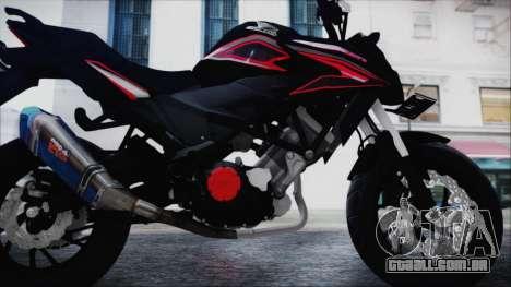 Honda CB150R Black para GTA San Andreas vista traseira