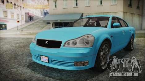 GTA 5 Karin Intruder para GTA San Andreas traseira esquerda vista