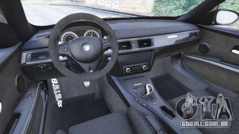 GTA 5 BMW M3 (E92) GTS v0.1 traseira direita vista lateral