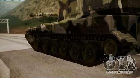 Norinco PLZ-45 155mm para GTA San Andreas traseira esquerda vista