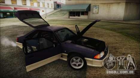 Ford Mustang Hatchback 1991 v1.2 para GTA San Andreas vista direita