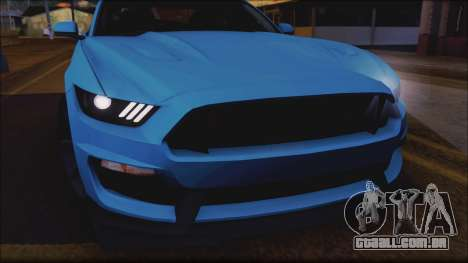 Ford Mustang Shelby GT350R 2016 No Stripe para GTA San Andreas vista interior