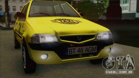 Dacia Solenza Taxi para GTA San Andreas vista direita
