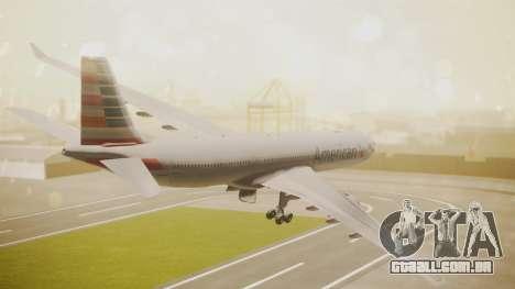 Airbus A330-300 American Airlines para GTA San Andreas esquerda vista
