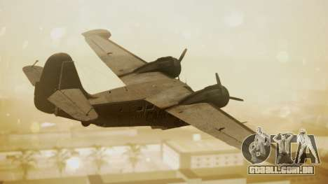 Grumman G-21 Goose N56621 Rusty para GTA San Andreas esquerda vista