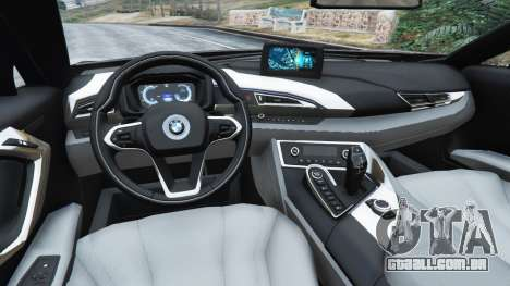 GTA 5 BMW i8 2015 traseira direita vista lateral