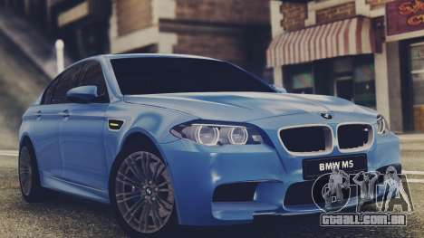 BMW M5 F10 Stock Single para GTA San Andreas esquerda vista