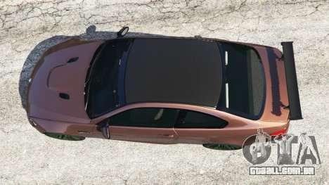 GTA 5 BMW M3 (E92) GTS v0.1 voltar vista