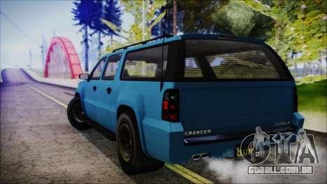 GTA 5 Declasse Granger FIB SUV IVF para GTA San Andreas esquerda vista