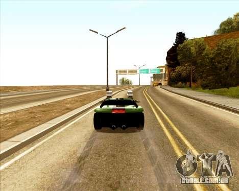 Banshee Twin Mill III Hot Wheels para GTA San Andreas vista traseira