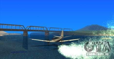 Water Effect para GTA San Andreas por diante tela