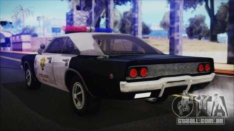 Police Car R.P.D. from RE 3 Nemesis para GTA San Andreas esquerda vista
