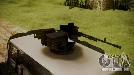 BF3 Rhino para GTA San Andreas traseira esquerda vista
