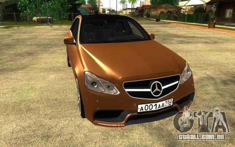 Mercedes Benz E63 AMG para GTA San Andreas