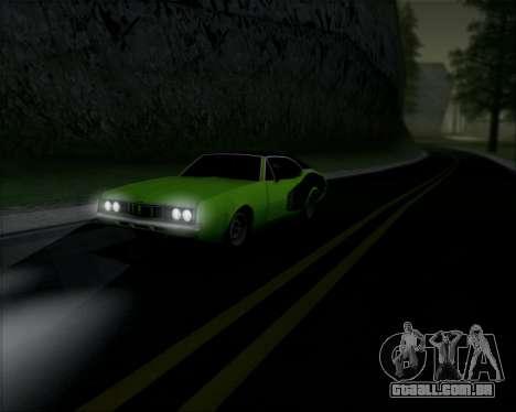 Clover Barracuda para GTA San Andreas traseira esquerda vista