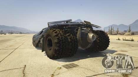GTA 5 The Tumbler traseira vista lateral esquerda