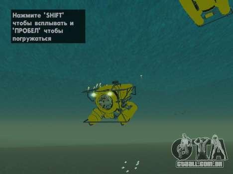 Submersível de GTA V para GTA San Andreas