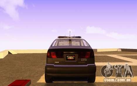 Karin Dilettante N.O.O.S.E. para GTA San Andreas traseira esquerda vista