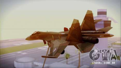 SU-27 Flanker A Philippine Air Force para GTA San Andreas esquerda vista