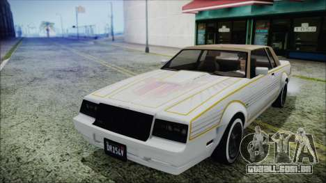 GTA 5 Willard Faction Custom para GTA San Andreas vista traseira