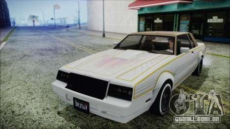 GTA 5 Willard Faction Custom para GTA San Andreas vista traseira