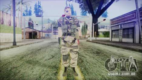 MGSV Phantom Pain Snake Normal Tiger para GTA San Andreas segunda tela