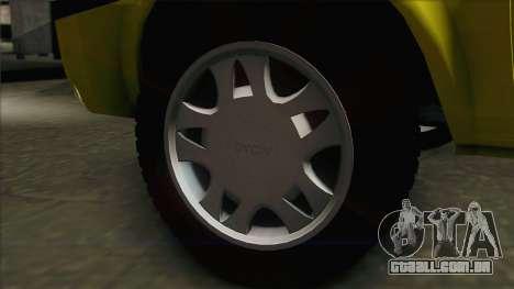 Dacia Solenza Taxi para GTA San Andreas traseira esquerda vista