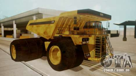 Dump Truck para GTA San Andreas esquerda vista