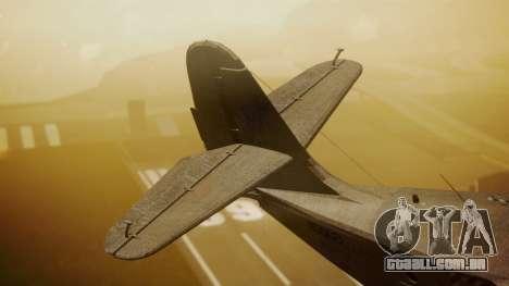 Grumman G-21 Goose N56621 Rusty para GTA San Andreas traseira esquerda vista