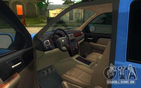 Chevrolet Tahoe para GTA San Andreas traseira esquerda vista