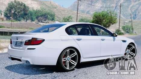 BMW M5 F10 2012 para GTA 5