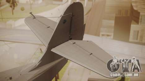 Grumman G-21 Goose Paintkit para GTA San Andreas traseira esquerda vista